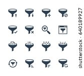 data filtering vector icon set | Shutterstock .eps vector #640189927