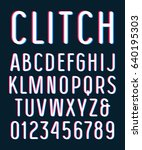 sanserif font with rounded... | Shutterstock .eps vector #640195303