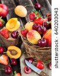 Fresh Ripe Summer Berries And...