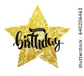 happy birthday lettering on... | Shutterstock .eps vector #640206463