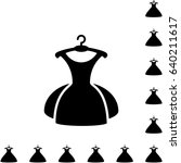 party fashion dress icon or... | Shutterstock .eps vector #640211617
