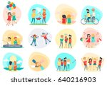 friendship. best friend forever.... | Shutterstock . vector #640216903