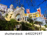 pena palace in sintra  portugal | Shutterstock . vector #640229197
