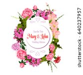 wedding save the date... | Shutterstock .eps vector #640237957