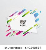 vector background with paper... | Shutterstock .eps vector #640240597