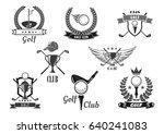 golf sport club symbol set....   Shutterstock .eps vector #640241083