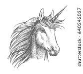 unicorn horse animal vector... | Shutterstock .eps vector #640242037
