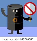 black oil barrel tin  with... | Shutterstock .eps vector #640246303