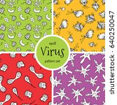 hand drawn cartoon virus...   Shutterstock .eps vector #640250047