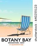 botany bay kent england seaside ... | Shutterstock . vector #640255123