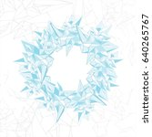 abstract vector blue and white... | Shutterstock .eps vector #640265767