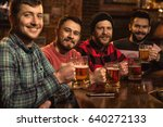 group of handsome young men... | Shutterstock . vector #640272133