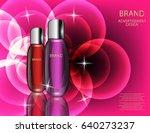 glamorous cosmetic  bottles ... | Shutterstock .eps vector #640273237