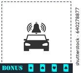 car alarm icon flat. simple... | Shutterstock .eps vector #640278877