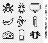 painting icons set. set of 9... | Shutterstock .eps vector #640286743