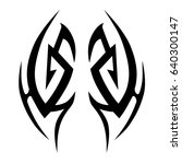 tattoo tribal vector designs... | Shutterstock .eps vector #640300147