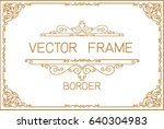 gold photo frame with corner... | Shutterstock .eps vector #640304983