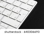 office table with keyboard... | Shutterstock . vector #640306693