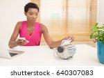 portrait of beautiful african... | Shutterstock . vector #640307083