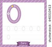 number zero tracing practice... | Shutterstock .eps vector #640310413