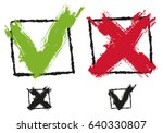 vector set icons check marks in ... | Shutterstock .eps vector #640330807