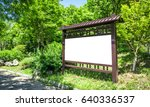 the blank signs in the park   Shutterstock . vector #640336537