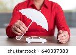 insurer protecting a car ... | Shutterstock . vector #640337383