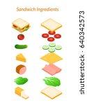 vector illustration. sandwich... | Shutterstock .eps vector #640342573