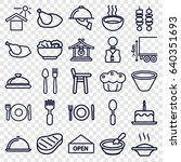 plate icons set. set of 25... | Shutterstock .eps vector #640351693
