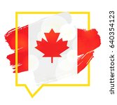happy victoria day sticker and... | Shutterstock .eps vector #640354123