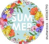 floral illustration. vector  ...   Shutterstock .eps vector #640365793