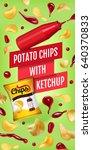 potato chips ads. vector... | Shutterstock .eps vector #640370833