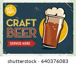 grunge retro metal sign with... | Shutterstock .eps vector #640376083
