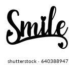 smile. laser cut silhouette.... | Shutterstock .eps vector #640388947