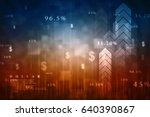2d digital abstract business... | Shutterstock . vector #640390867
