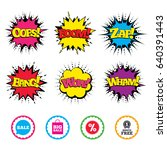 comic wow  oops  boom and wham... | Shutterstock .eps vector #640391443