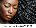 extreme close up beauty...   Shutterstock . vector #640399927