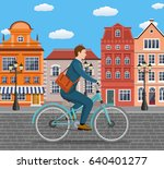 city style businessman with bag ... | Shutterstock . vector #640401277