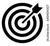 bullseye vector icon   Shutterstock .eps vector #640404307