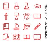study icons set. set of 16... | Shutterstock .eps vector #640416703
