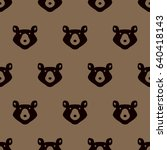 seamless pattern with bears.... | Shutterstock .eps vector #640418143