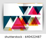 vector triangle business annual ... | Shutterstock .eps vector #640422487