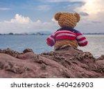 alone is lonely  alone bear  so ... | Shutterstock . vector #640426903