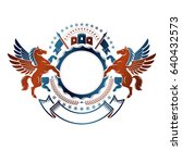 graphic vintage emblem with... | Shutterstock .eps vector #640432573
