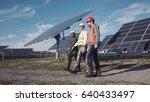 technician walks with workman...   Shutterstock . vector #640433497