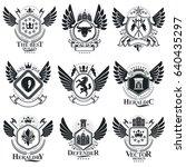 vintage emblems  vector... | Shutterstock .eps vector #640435297