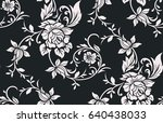 Stock vector seamless luxury pattern with flowers 640438033