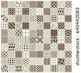 vector graphic vintage textures ... | Shutterstock .eps vector #640442083