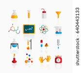 chemistry icons | Shutterstock .eps vector #640443133
