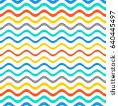 summer vector simple seamless... | Shutterstock .eps vector #640445497